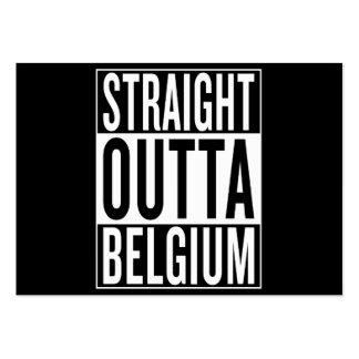 straight outta Belgium Pack Of Chubby Business Cards