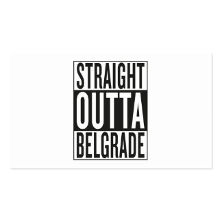 straight outta Belgrade Pack Of Standard Business Cards