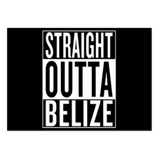 straight outta Belize Pack Of Chubby Business Cards