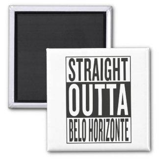 straight outta Belo Horizonte Square Magnet
