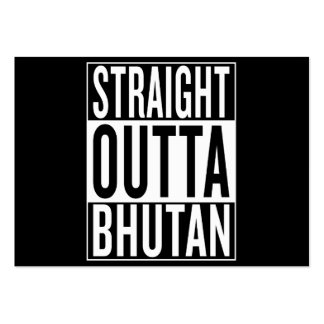 straight outta Bhutan Pack Of Chubby Business Cards