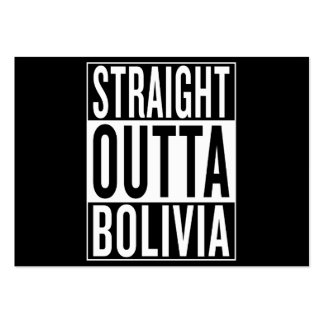 straight outta Bolivia Pack Of Chubby Business Cards