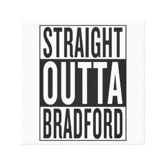straight outta Bradford Gallery Wrap Canvas