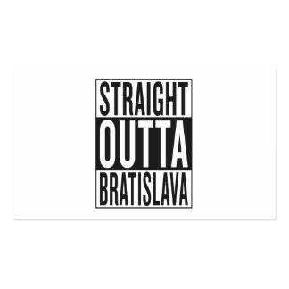 straight outta Bratislava Pack Of Standard Business Cards