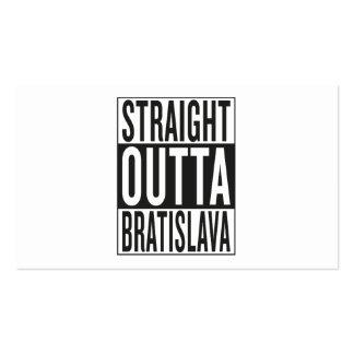 straight outta Bratislava Pack Of Standard Business Cards
