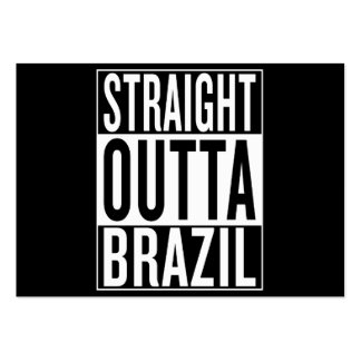straight outta Brazil Pack Of Chubby Business Cards