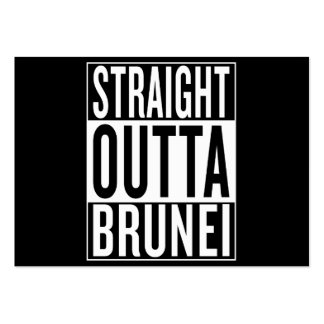 straight outta Brunei Pack Of Chubby Business Cards