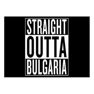 straight outta Bulgaria Pack Of Chubby Business Cards