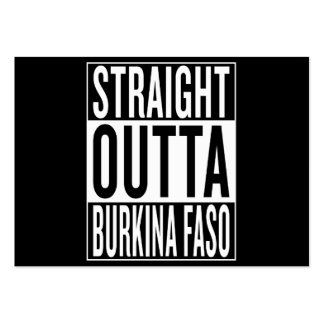straight outta Burkina Faso Pack Of Chubby Business Cards