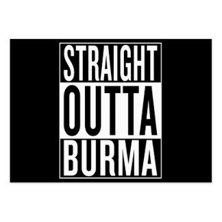 straight outta Burma Pack Of Chubby Business Cards