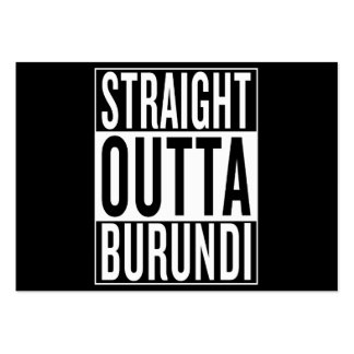 straight outta Burundi Pack Of Chubby Business Cards
