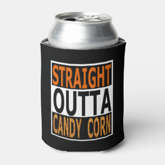 Straight Outta Candy Corn Funny Halloween Can Cooler