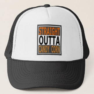 Straight Outta Candy Corn Funny Halloween Trucker Hat