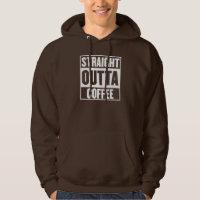 STRAIGHT OUTTA COFFEE MENS HOODIE
