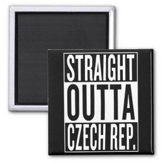 straight outta Czech Republic Square Magnet