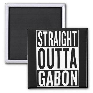 straight outta Gabon Square Magnet