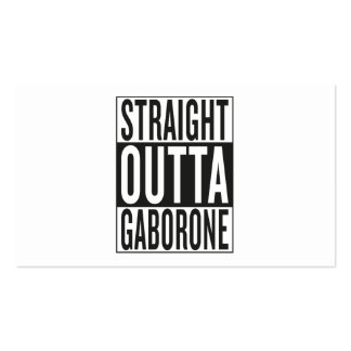 straight outta Gaborone Pack Of Standard Business Cards