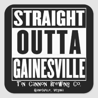 Straight Outta Gainesville Square Sticker