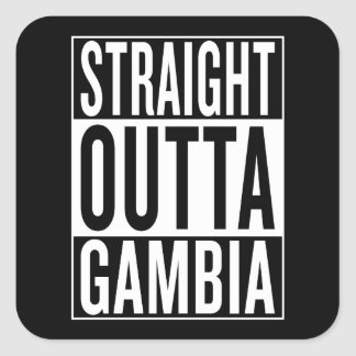 straight outta Gambia Square Sticker