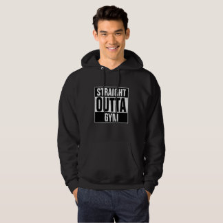 Straight Outta GYM Hoodie with grunge effect
