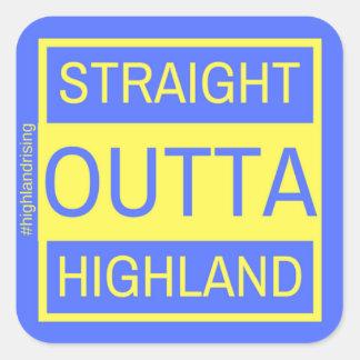 Straight Outta Highland Sticker