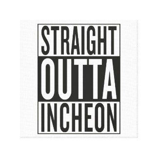 straight outta Incheon Stretched Canvas Prints