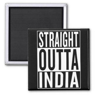 straight outta India Square Magnet