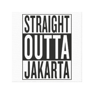 straight outta Jakarta Gallery Wrapped Canvas