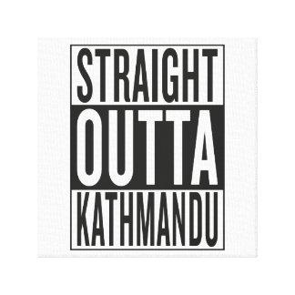 straight outta Kathmandu Stretched Canvas Prints
