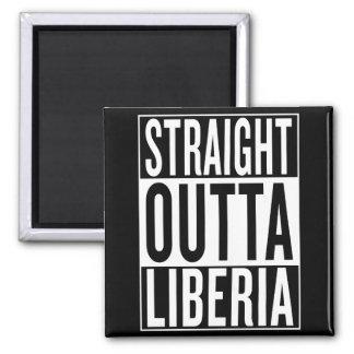 straight outta Liberia Square Magnet