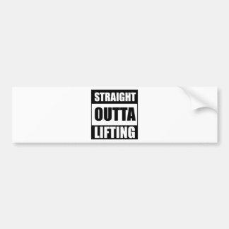 Straight Outta Lifting Bumper Sticker