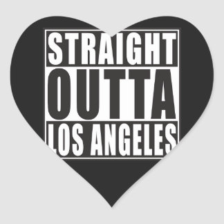 Straight Outta Los Angeles Heart Sticker