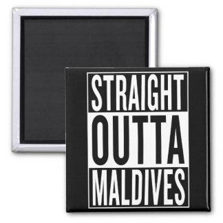 straight outta Maldives Square Magnet