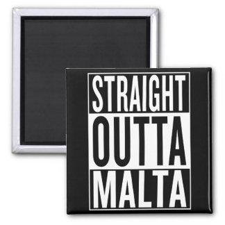 straight outta Malta Square Magnet