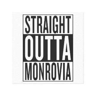 straight outta Monrovia Stretched Canvas Prints