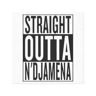 straight outta N'Djamena Stretched Canvas Prints