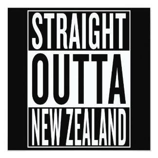 straight outta New Zealand 13 Cm X 13 Cm Square Invitation Card