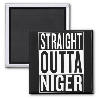 straight outta Niger Square Magnet