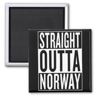 straight outta Norway Square Magnet