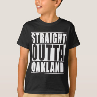 Straight Outta Oakland Black T-Shirt