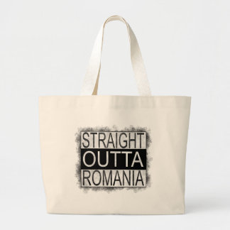 Straight Outta Romania Large Tote Bag