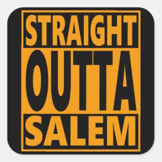 Straight Outta Salem Halloween Fanatic Square Sticker