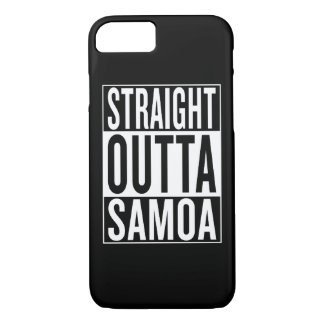 straight outta Samoa iPhone 7 Case