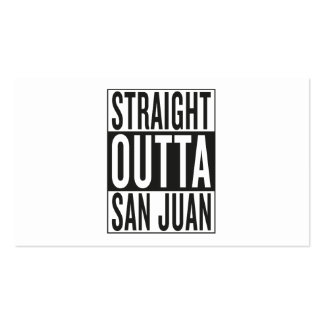 straight outta San Juan Pack Of Standard Business Cards