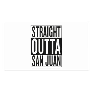 straight outta San Juan Pack Of Standard Business Cards