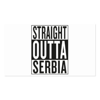 straight outta Serbia Pack Of Standard Business Cards