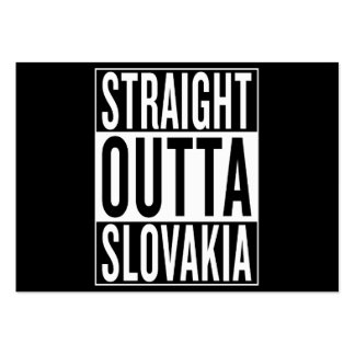 straight outta Slovakia Pack Of Chubby Business Cards