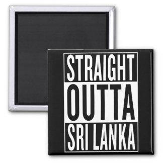straight outta Sri Lanka Square Magnet