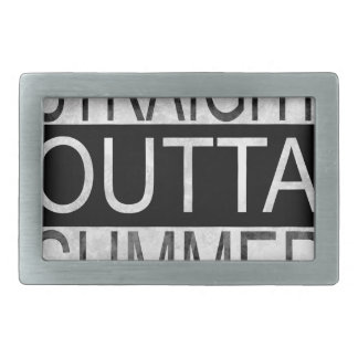 Straight outta SUMMER Rectangular Belt Buckle