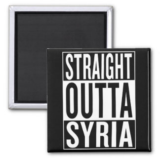 straight outta Syria Square Magnet